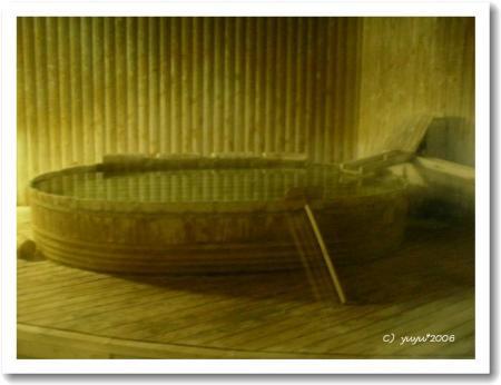 木桶の露天風呂