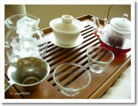 ジャスミン茶とクランベリー茶?