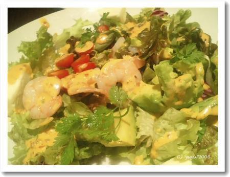 アボカドとシュリンプのサラダ