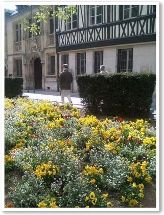 ミュゼのそばの花壇