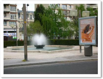 駅前の噴水♪