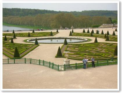 宮殿からみた庭の風景