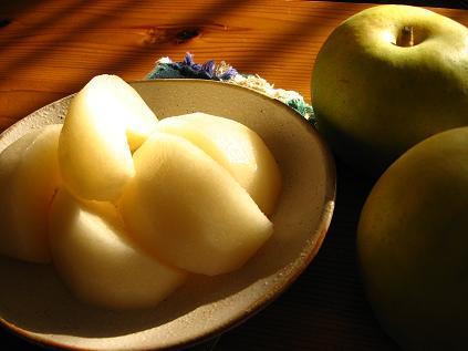 みずみずしい梨