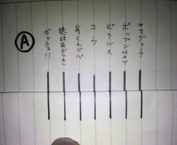 当選くじ引き用紙その1