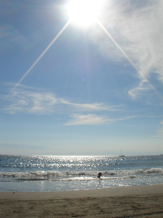 暑い一色海岸
