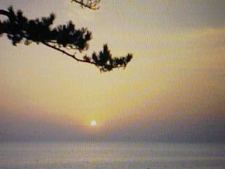 立石の夕照