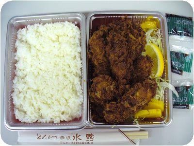 牡蠣フライ定食+メンチカツ
