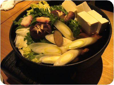 鍋(最初は野菜のみ)
