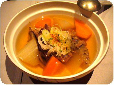 桜肉と根菜炊き合せ