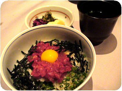桜肉の小丼ぶり