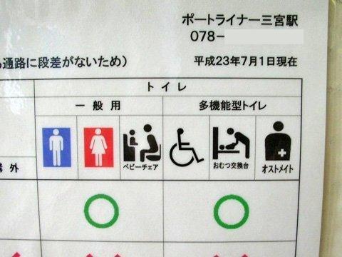 駅トイレのピクトさん