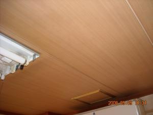 板目天井壁紙張替(クロス張替)前