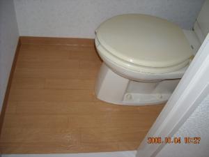 トイレ、クッションフロア張替後
