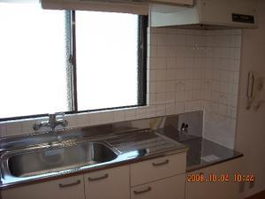 キッチン交換取付後、シングルレバー混合栓交換取付後2