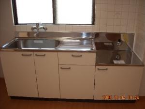 キッチン交換取付後、シングルレバー混合栓交換取付後1