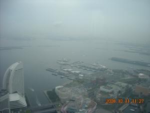 横浜ランドマークタワーからの風景