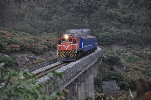 台湾最南端の枋山駅からの線路