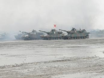 観閲前部隊移動_第72戦車連隊