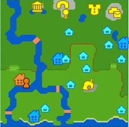 ハッピー村の地図