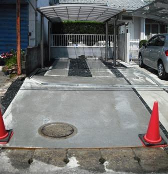駐車スペース土間コン