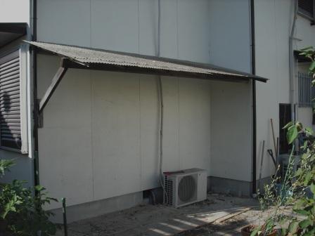 裏庭DIYのテラス屋根