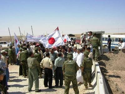 イラク・サマーワの自衛隊支援デモ01