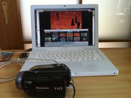 HD-HS100とMacBookとiMovie'09