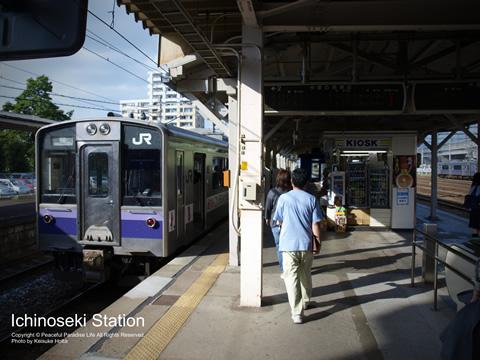一ノ関駅で盛岡行きに乗り換えるところ