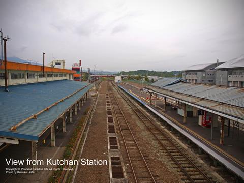 倶知安駅からの眺め