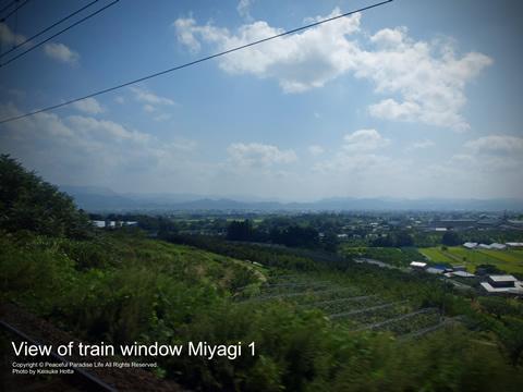 福島-白石区間の車窓からの眺め