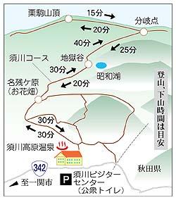 栗駒山ー地図